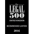 2016 - Legal 500 - UK recommended lawyer.png