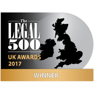 2017 Legal 500 - UK Awards 2017- Winner - Insurance and travel.png