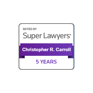 chris carroll super lawyers 5 years